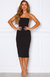 Bellini Breeze Midi Dress Black