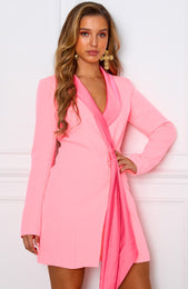 Fruit Tingle Blazer Dress Neon Pink