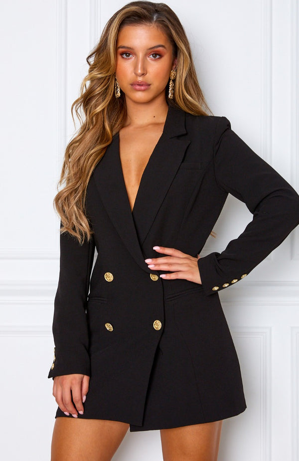 Long Island Blazer Dress Black