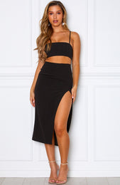 Caprioska Midi Skirt Black