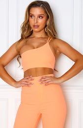 Tutti Fruity One Shoulder Crop Peach