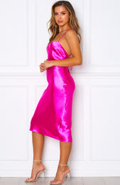 Tropical Treasure Midi Dress Magenta