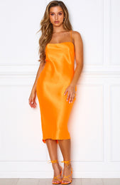 Tropical Treasure Midi Dress Tangerine