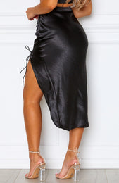 Tequila Sunrise Midi Skirt Black