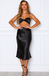 Margarita Midi Skirt Black