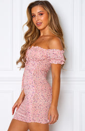 Force Of Nature Mini Dress Pink Print