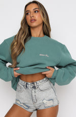 Steal Your Heart Oversized Sweater Teal