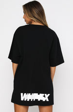 Writing On The Wall Oversized Tee Black