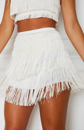 High Hopes Mini Skirt Off White
