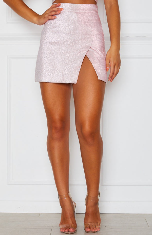 Feel The Love Mini Skirt Baby Pink
