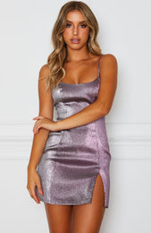Flashing Lights Mini Dress Fuchsia