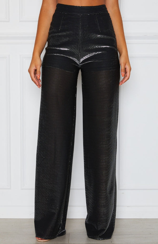 Jaw Drop Pants Black/Silver Metallic