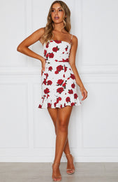 Spell On You Dress Scarlet Rose White