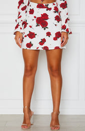 Be The One Skirt Scarlet Rose White