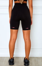 High Impact Bike Shorts Black/Pink