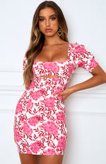 Azalea Mini Dress Pink Peony