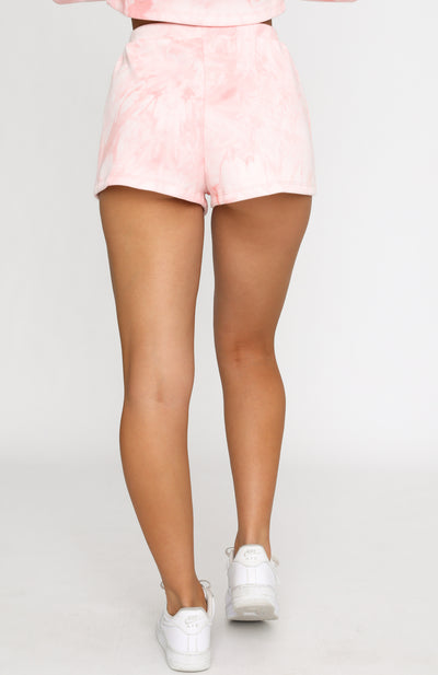 Stop And Stare Shorts Pink Tie Dye