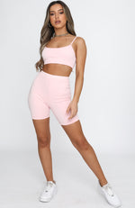 Nothin' But Love Crop Pink