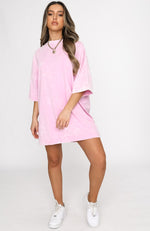 Latest Muse Tee Dress Pink Acid
