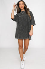 Latest Muse Tee Dress Black Acid