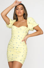 Sunset Dream Mini Dress Yellow