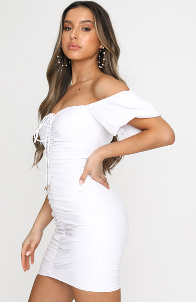 Italian Coastline Mini Dress White