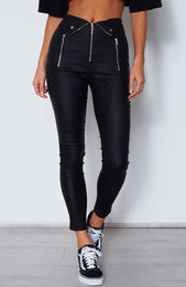 Straight Talk Pants Black