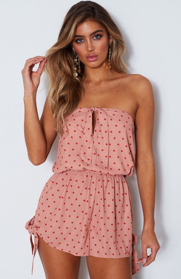 Set Me Free Playsuit Spot On Peach