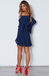 Starry Night Dress Spot On Navy