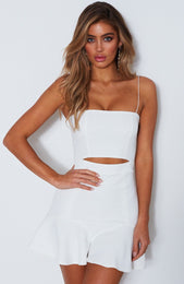 Just My Type Mini Dress Off White