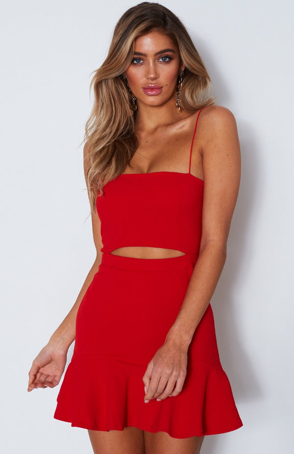 Just My Type Mini Dress Red