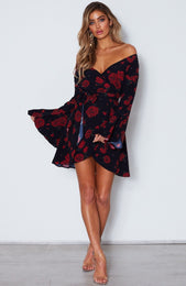 Starry Night Dress Russian Rose Black