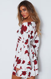 Starry Night Dress Scarlet Rose White