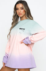Don't Kill My Vibe Long Sleeve Tee Sea Mist
