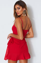 Bet On Me Mini Dress Red
