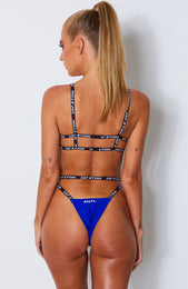 Soaked Bikini Top Electric Blue