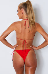 Barely There Bikini Top Red
