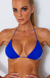 Barely There Bikini Top Electric Blue