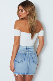 Rockettes Knit Crop Off White