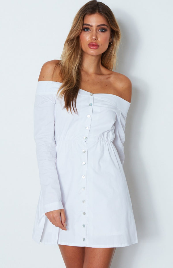 Fearless Love Mini Dress White