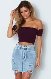 Liberty Knit Crop Sangria