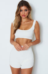 Queens Knit Crop Off White