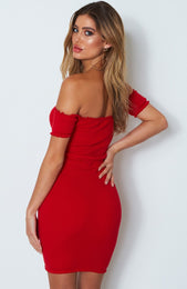 Waldorf Knit Dress Red