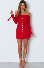 Fearless Love Mini Dress Red