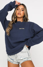 Steal Your Heart Oversized Sweater Navy