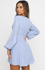Way Of Life Mini Dress Blue Print