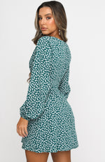 Way Of Life Mini Dress Green Print
