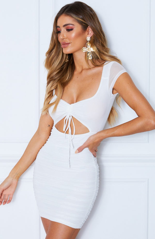 Need You Now Mini Dress White