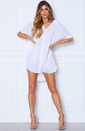 Relaxed Tee Dress White