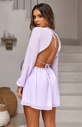 French Riviera Dress Lilac